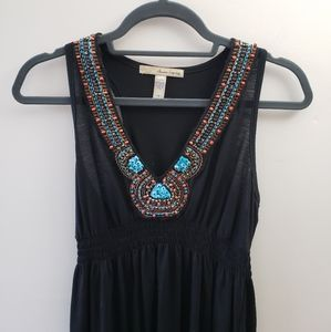 EUC, American Rag Cie Black Jeweled Dress, M